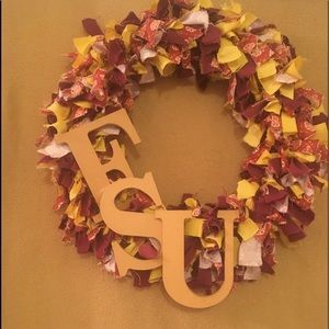 FSU homemade rag wreath